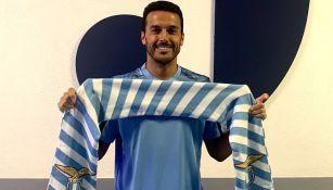 Pedro Rodríguez posa con los colores de la Lazio