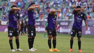 Jugadores de Mazatlán FC en festejo