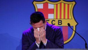 Messi entre lágrimas en su despedida