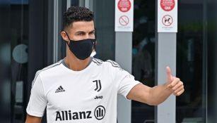 Cristiano Ronaldo en un entrenamiento de la Juventus