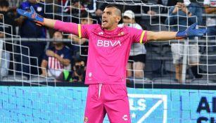 Nahuel Guzmán en acción en el All-star Skillls Challenge
