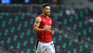 Jesús Molina previo a un partido con Chivas