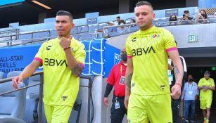 Orbelín Pineda y Cabecita Rodríguez en el All-star Skillls Challenge
