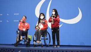 Fabiola Ramírez junto a las demás medallistas de la prueba