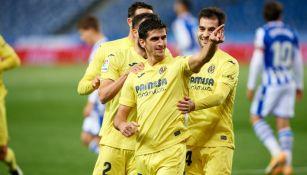 Gerard Moreno celebra con el Villareal