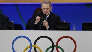 Jacques Rogge en un evento de las Olimpiadas