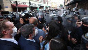 CDMX: Lía Limón fue herida en protesta de alcaldes que terminó en golpes