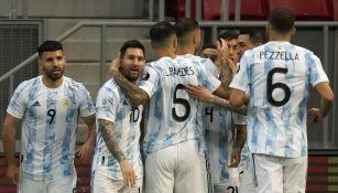 Jugadores de Argentina en un partido