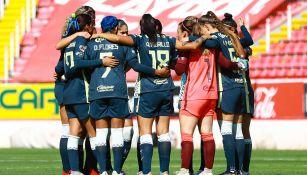 América Femenil previo a un partido
