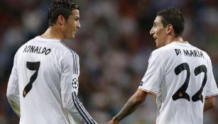 Di María y Cristiano Ronaldo en el Real Madrid