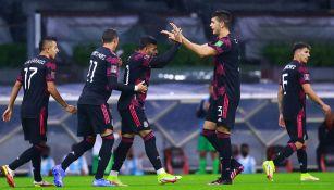 México, en festejo de gol