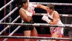 Jeanette Zacarías en la pelea