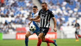 Janssen durante un partido con Rayados
