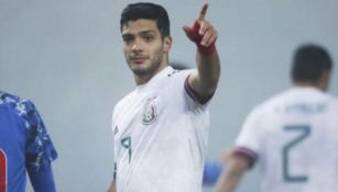 Raúl Jiménez tras anotar gol con la Selección Mexicana