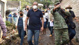 Cuauhtémoc Blanco, gobernador, de Morelos en Tlayacapan