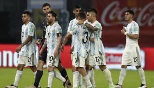 Jugadores argentinos en un  partido