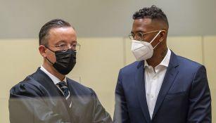Jerome Boateng junto a su abogado