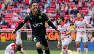 Brizuela, en festejo de gol
