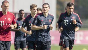 Jugadores de Bayern Munich en un entrenamiento