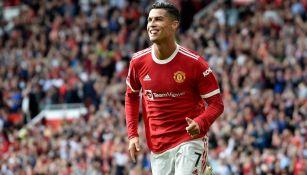 Cristiano Ronaldo celebrando el gol en su regreso