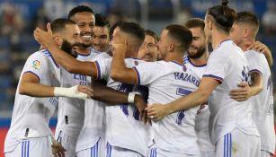 Jugadores del Real Madrid celebrando un gol a favor