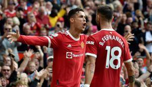 Cristiano Ronaldo tras anotar gol en contra de Newcastle