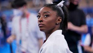 Simone Biles en la Final femenina por equipos de los Juegos Olímpicos de Tokio 2020