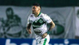 Nico Castillo durante un partido con el Juventude