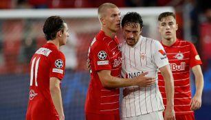 Sevilla salvó empate con Salzburgo tras tres penaltis en contra