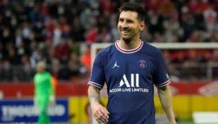 Lionel Messi en un partido del PSG