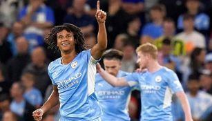 Nathan Ake tras anotar su primer gol en Champions