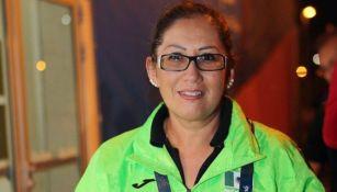 Liliana Suárez, presidenta del Comité Paralímpico Mexicano en una conferencia