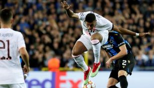 Kylian Mbappé en acción con el PSG en Champions League