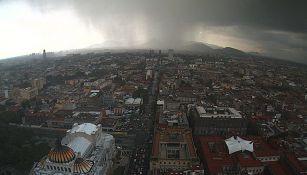 Captura de video sobre la lluvia en la Ciudad de México