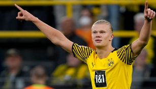 Erling Haaland celebra anotación con el Borussia Dortmund frente al Union Berlín