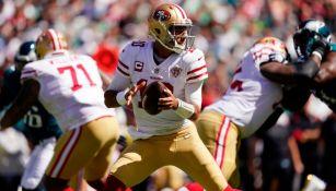 Garoppolo en el duelo entre 49ers y Eagles