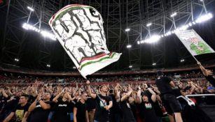 Aficionados de Hungría durante el partido contra Inglaterra