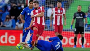 Herrera en el juego vs Getafe