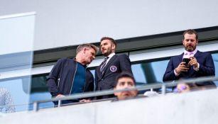 Gordon Ramsay y David Beckham en el palco