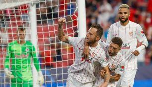 Ivan Rakitic celebrando un gol con Sevilla