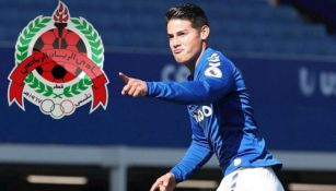 James Rodríguez durante juego con el Everton