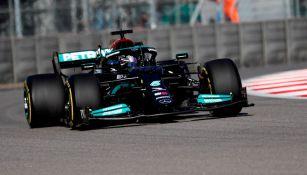 Lewis Hamilton en el Gran Premio de Rusia