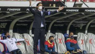 Santiago Solari durante un Clásico Nacional