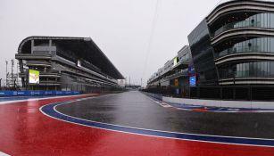 Así lucía el circuito de Sochi tras las fuertes lluvias