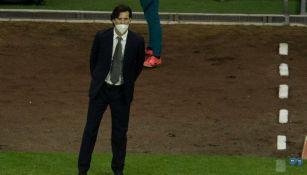 Santiago Solari en el partido con América
