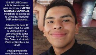 Víctor Morales desapareció en Oaxaca