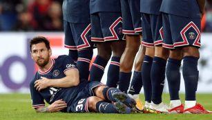 Messi en la barrera del PSG