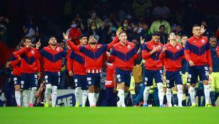 Jugadores de Chivas previo al Clásico contra América