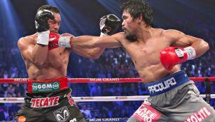 Márquez impacta el rostro de Pacquiao