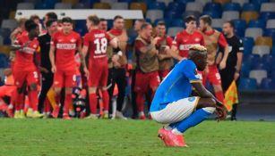 Osimhen tras un gol del Spartak
